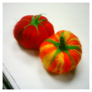Needlefelted Heirloom Tomatos
