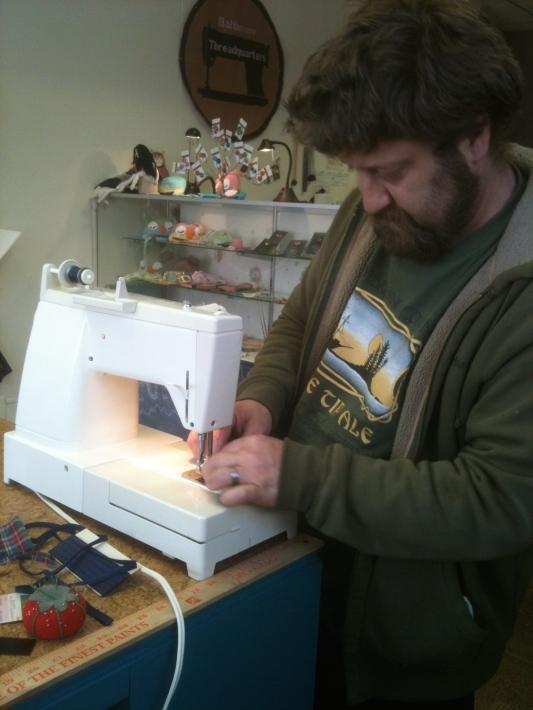 """Matt """"sewing as performance art"""""""