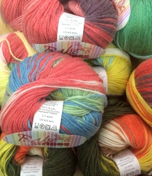 Baby Stripes in this Euro Yarns Babe Stripes, 6 colorways